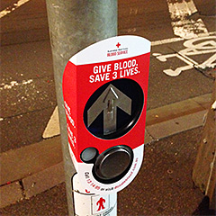 Red Cross Pedestrian Buzzer Wrap