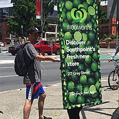 Woolworths Human Billboards
